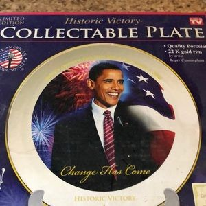 Historic Plate Obama 44th president collectible